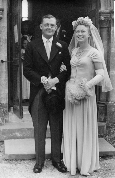 Tancred and Joan wedding, April 24, 1948
