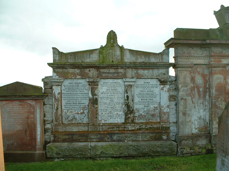 Lidderdale memorial wall at Kelton cemetary